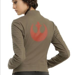 HER UNIVERSE Star Wars Finn Jacket in Olive